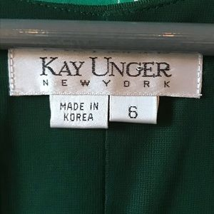 Kay Unger Dresses - KAY UNGER asymmetrical dress with brooch detail
